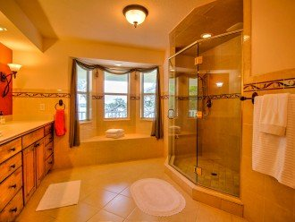 Master Bath Enclosed walk in shower