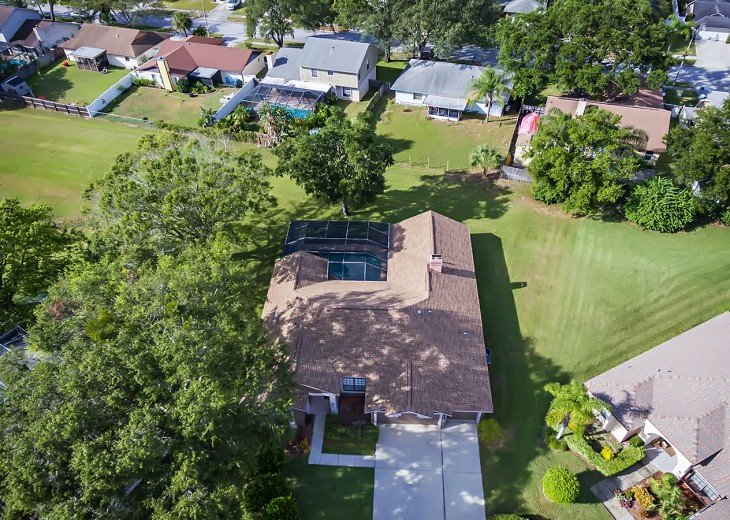 Aerial photo of the home