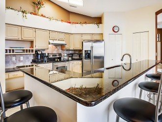 Granite counter tops and stainless steel appliances