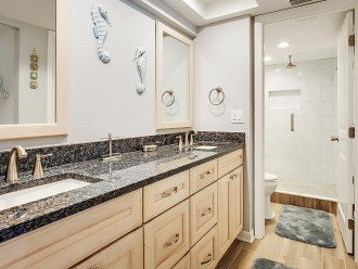 Brand new granite bathroom and exquisite tiled walk in shower
