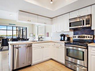 Lake side kitchen fully stocked
