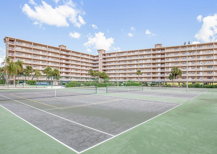 Four tennis courts for your use