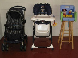 stroller/highchair and booster
