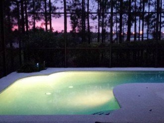 private west facing pool