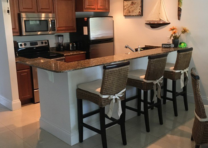 Kitchen Area Granite Counter Tops, All New Stainless Steel Appliances