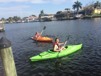 2 kayaks for river excursions