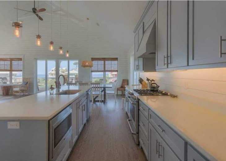 Modern kitchen with gas stove