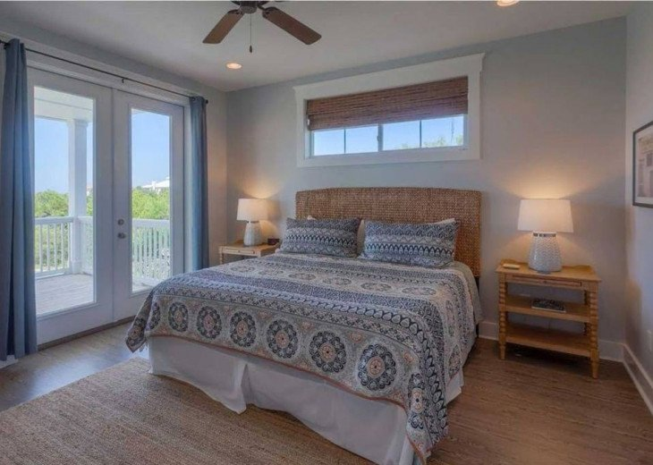 One of the Two Master Bedrooms that face the Gulf.