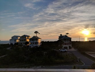Breathtaking sunsets are a daily thing at Craigs' Coastal Cottage