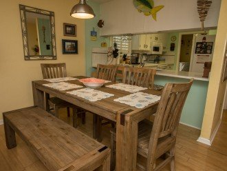 New driftwood dining table set