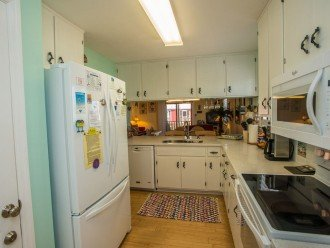 The kitchen has everything-all new appliances,oversize refrigerator
