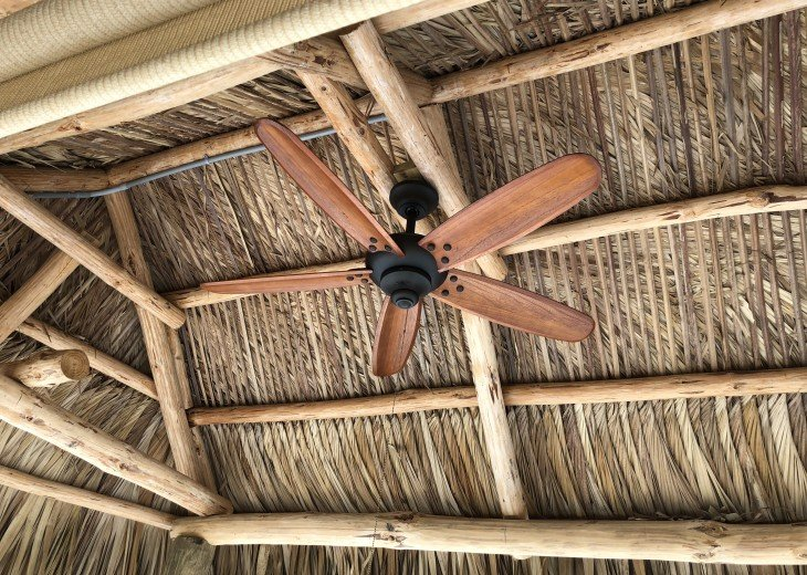 Ceiling fan in Tiki Hut