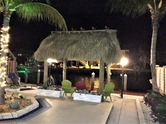 Night time at our Tiki Hut
