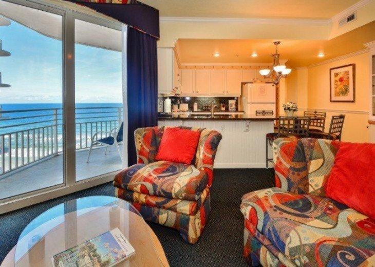Living Room Ocean Front Balcony