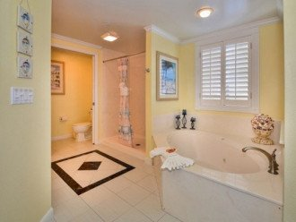 Master Bath with Shower & Jacuzzi Tub