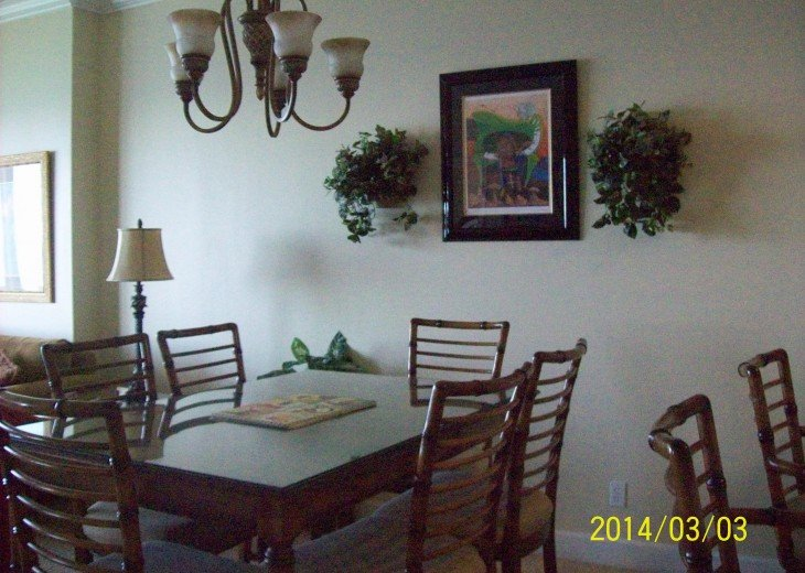 dinning room with pub table