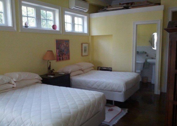Second floor bedroom with 2 full beds