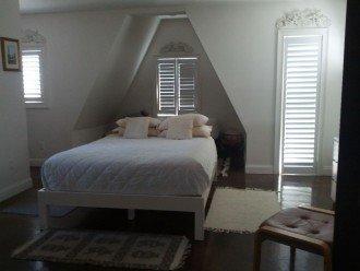 Third floor bedroom; Queen bed and 2 twin beds