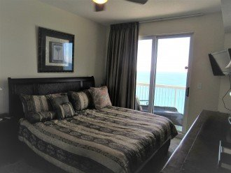 Master bedroom, private balcony entrance on the water