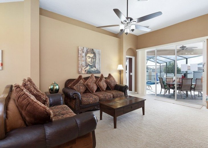 Disney Themed bedrooms and a South Facing Pool and SPA in Calabay Parc #9