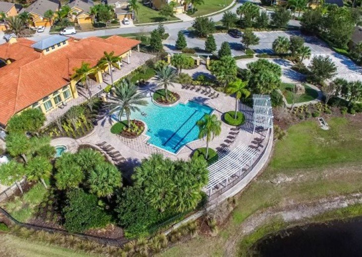 Stay in this 6, 5.5 bath vacation pool home with spa in WaterSong Resort #36