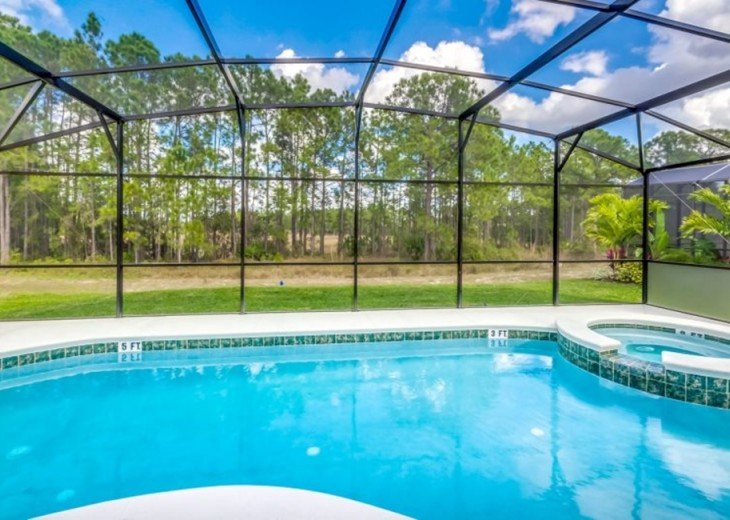 Stay in this 6, 5.5 bath vacation pool home with spa in WaterSong Resort #28
