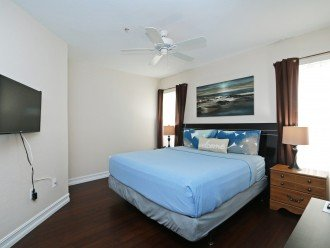 "Master Bedroom with en-suite bathroom, large 39"" TV, ceiling fan, a/c"