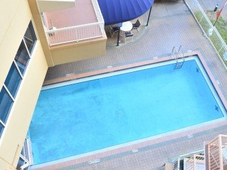 Balcony View of the Indoor/Outdoor Heated Pool