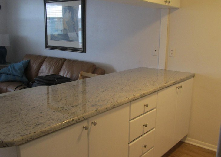 New Granite counter tops in Kitchen .