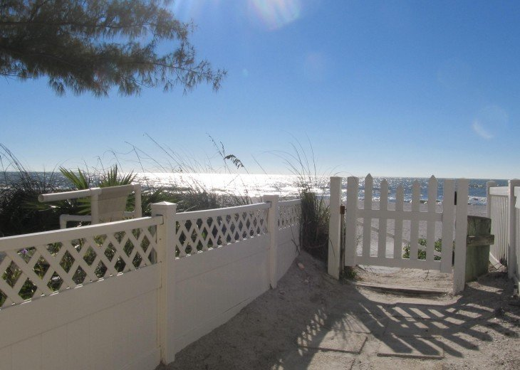 Private gate access to Beautiful Sunset Beach.
