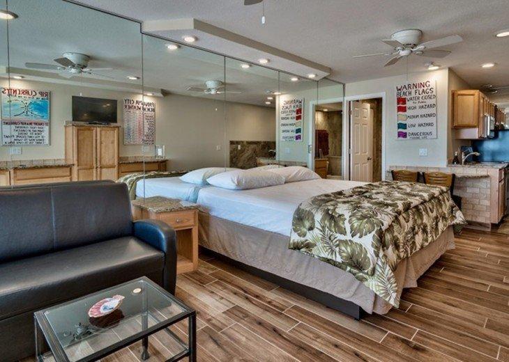 Tile Floors/Sleeper sofa/