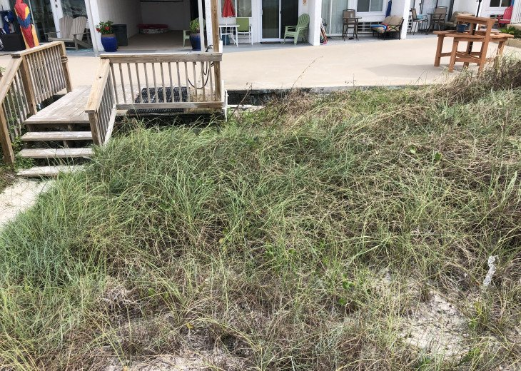 walk right off your deck area to Sand