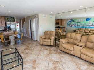two level Townhone walk right in living area down bedrooms up