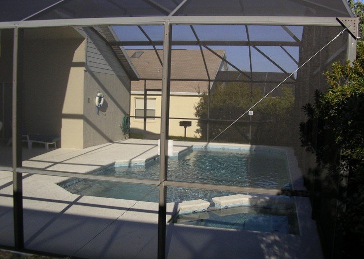 Screened in pool
