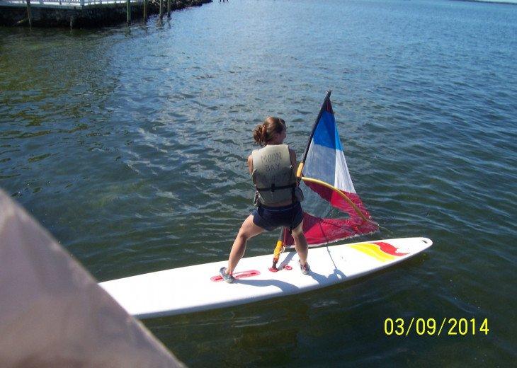 Learn to windsurf.