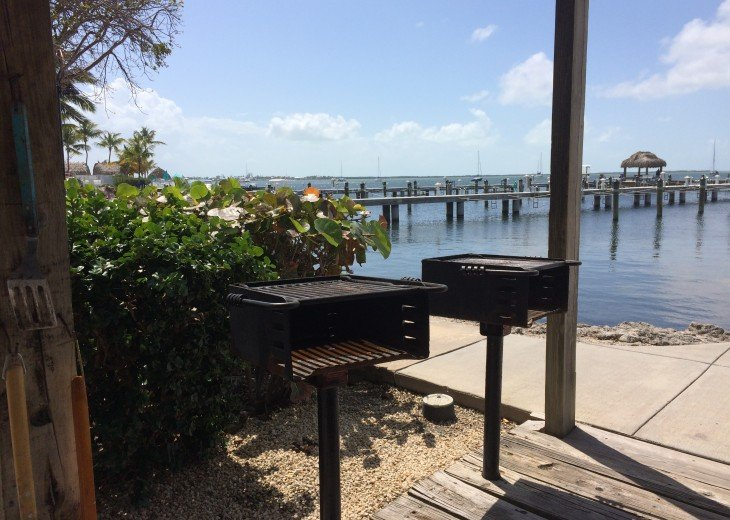 Grills right on the water.