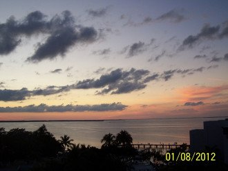 Sunset from the condo porch.