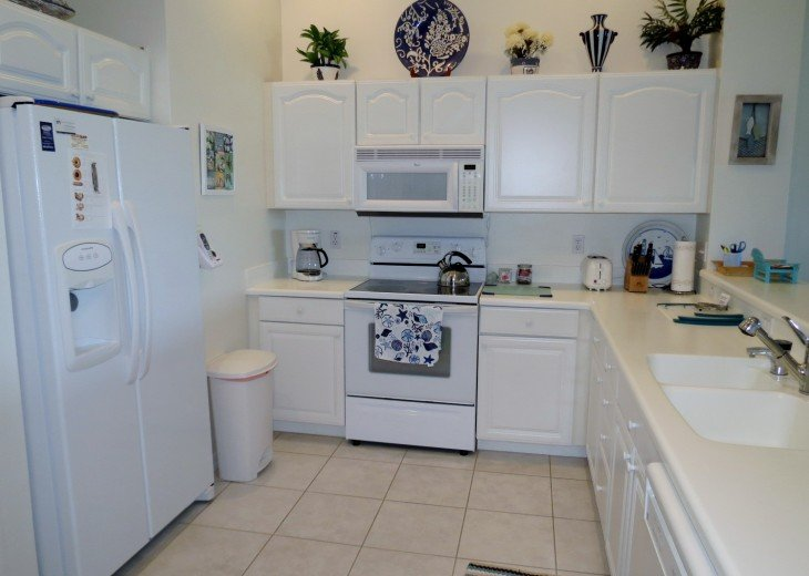 Kitchen with Corian counter tops