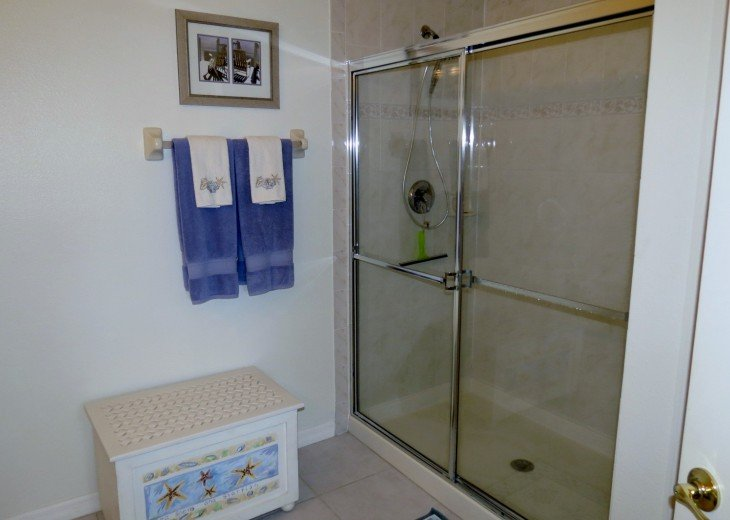 Walk in shower in Master bath