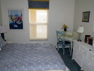 Queen bedroom with desk