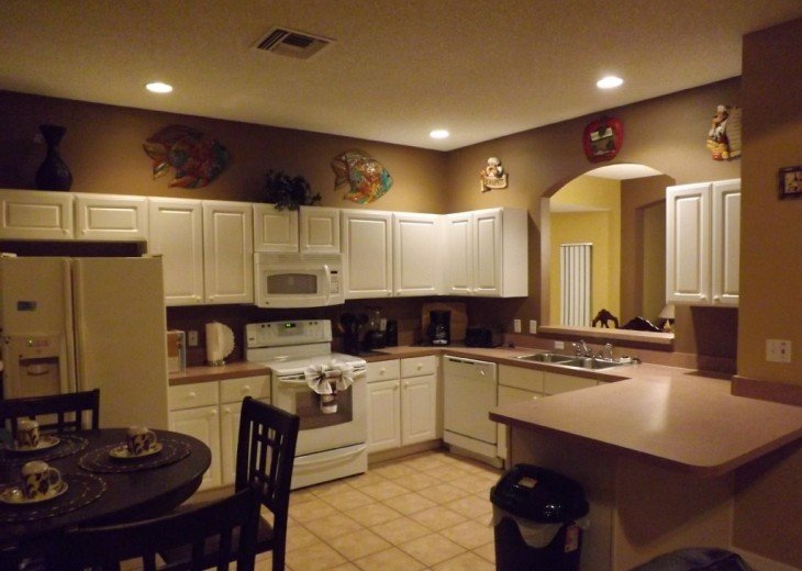 Disney area, Lake view south facing pool 7 bedroom 4 and half bath, 3 king bed #3