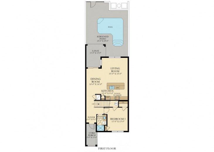 Lovely 4BR 3Bth Storey Lake Resort Town Home w/Splash Pool -SL4832 #23