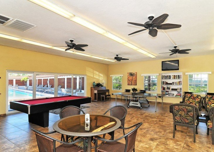 Club room with pool table and ping pong