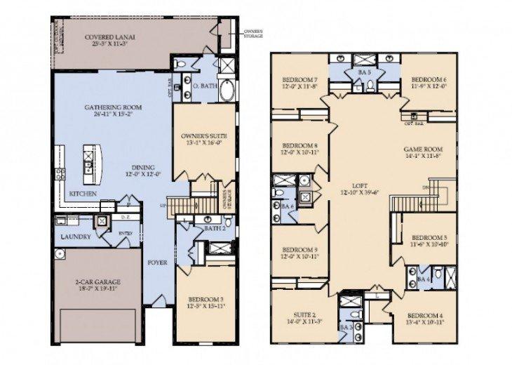 9BR 6Bth Windsor at Westside Home w/Pool, Spa and Gameroom - WW8811 #52