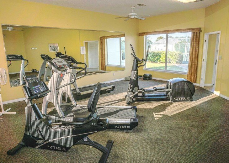 You can keep your exercise routine at the Maravilla Clubhouse