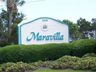 Welcome to Maravilla. Gated entrance from Highway 98