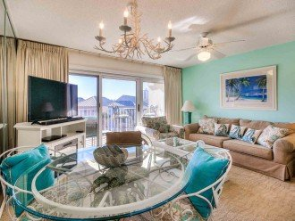 Comfortable Living Area. Opens to the 3rd Floor Balcony, Gorgeous view.