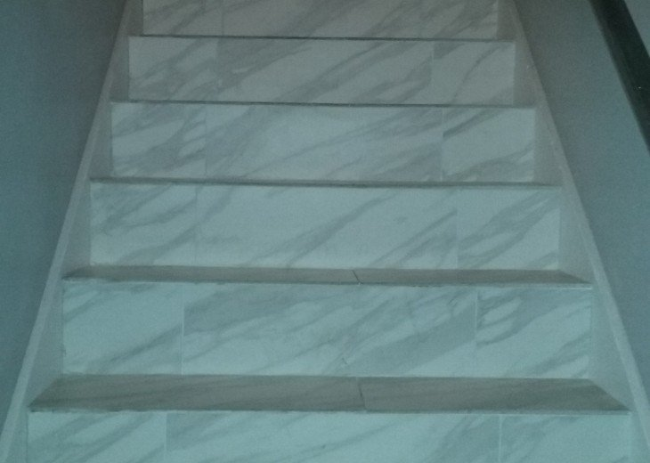 Marble stair case between each fully self contained unit