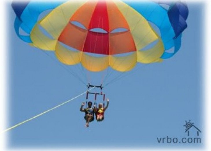 Parasailing in town