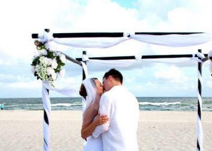 No $500 fee here for your wedding. Huge Uncrowded Beach directly in front
